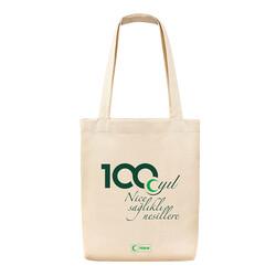 - 100. Yıl Temalı Bez Çanta