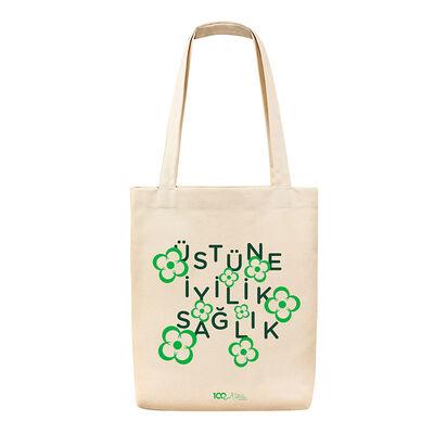 100. Yıl Temalı Bez Çanta - Üstüne İyilik Sağlık