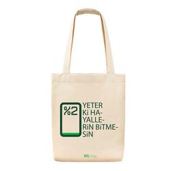 Yeşilay - 100. Yıl Temalı Bez Çanta - Yeterki Hayallerin Bitmesin