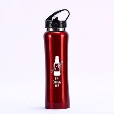 Kırmızı Matara - Bağımsız Ol Alkol Bağımlılığı