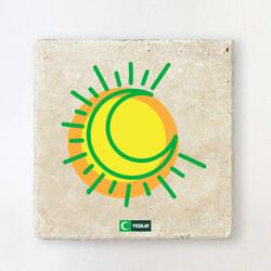 Yeşilay - Taş Bardak Altlığı - Hilal ve Güneş