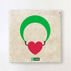 Yeşilay - Taş Bardak Altlığı - Hayata Devam