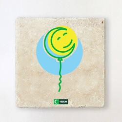 Yeşilay - Taş Bardak Altlığı - Mutluluk