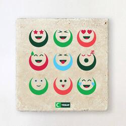Yeşilay - Taş Bardak Altlığı - Gülümsemek