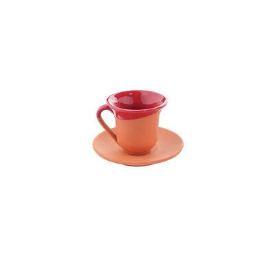 Toprak Kahve Seti - Kırmızı
