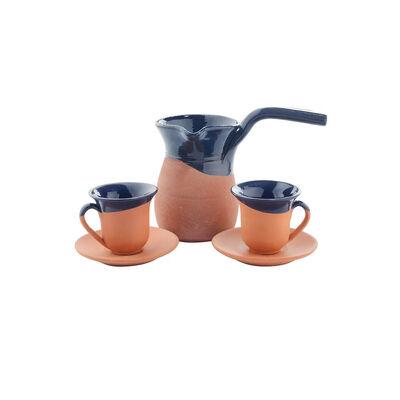 Toprak Kahve Seti - Lacivert