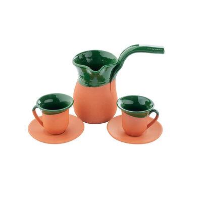 Toprak Kahve Seti - Yeşil