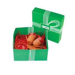 Yeşilay - Toprak Lokumluk ve Fincan Seti - Kırmızı