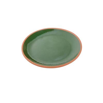 Toprak Servis Tabaklı Fincan Seti - Yeşil