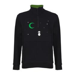 Yeşilay - Yaka Fermuarlı Sweatshirt - Düş