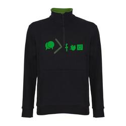 Yeşilay - Yaka Fermuarlı Sweatshirt - Sohbet